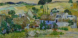 Farms near Auvers - Image: Van Gogh Thatched Cottages By A Hill