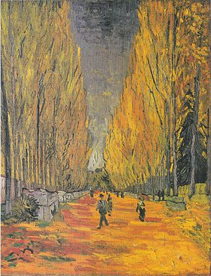 Falling Autumn Leaves - Image: Van Gogh Les Alyscamps, Allee in Arles 1
