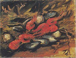 Shrimp and prawn as food - Mussels and shrimps, Van Gogh 1886
