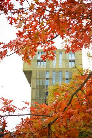 Hanze University of Applied Sciences - The van Olst Tower in Autumn