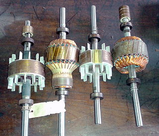 non-stationary part of a rotary electric motor