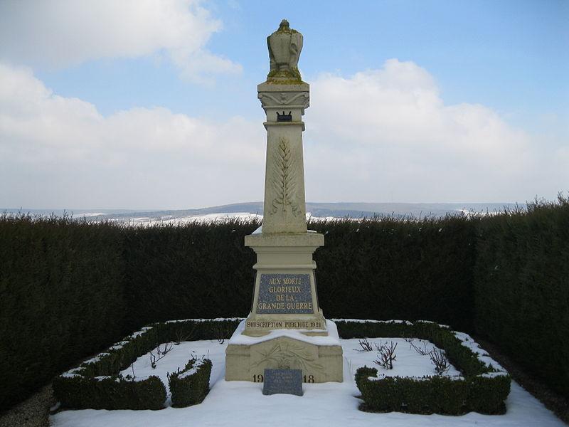 Le monument aux morts de Vauciennes.