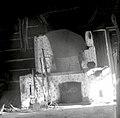 Večja lesena hiša, stara 60 let, Cvelbar Anton, Zameško 15. Ognjišče v gornji hiši 1952.jpg