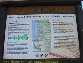 Northern Velebit National Park - Park map