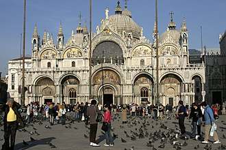 Piazza San Marco - The west facade of St Mark's basilica