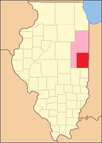 Vermilion County, Illinois - Image: Vermilion County Illinois 1831