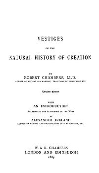 Titelblad till 12:e upplagan av Vestiges of the Natural History of Creation (1884)