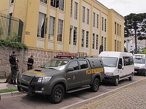 Army Police (Brazil) - Brazilian Army Police Toyota Hilux of the 5ª Companhia de Polícia do Exército