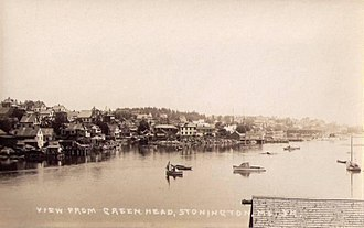 Stonington, Maine - View of the waterfront c. 1915