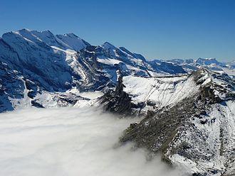 Schilthorn - View of Alps from Schilthorn