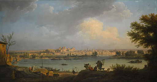 View of Avignon from the right bank of the Rhone by Claude-Joseph Vernet, 1756