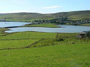 Finstown - Image: View of Finstown from HY3615 geograph.org.uk 235398