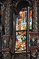 Viktring Stiftskirche Glasmalereien mittleres Fenster Jesus oberer Teil 07052011 116.jpg