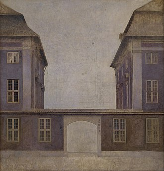 Amalienborg Square, Copenhagen - Image: Vilhelm Hammershøi The Buildings of the Asiatic Company, seen from St. Annæ Street Google Art Project