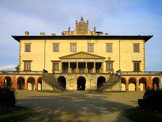 Villa - The Villa di Medici by Giuliano da Sangallo-1470: Poggio a Caiano, Tuscany