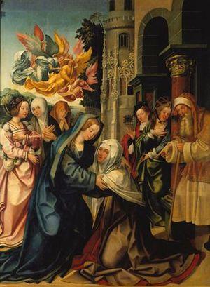 Visitation - Saint Benedict altarpiece
