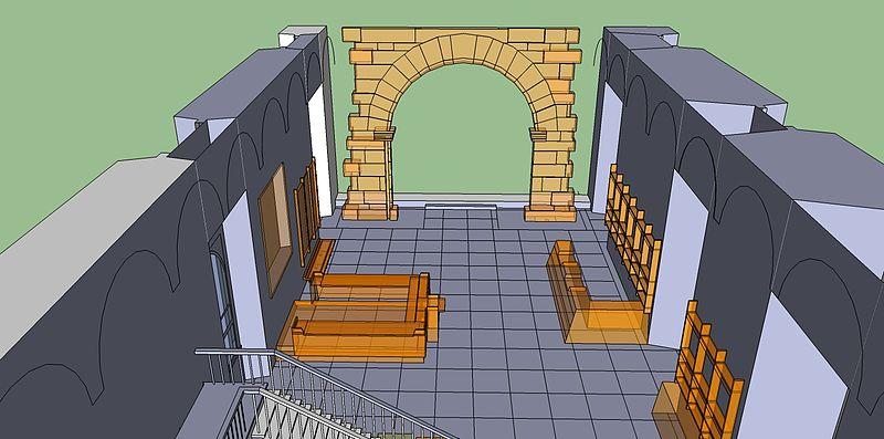 File:Vista sketchup dell'ingresso al museo del Castello Sforzesco..jpg