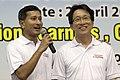 Vivian Balakrishnan and Lim Swee Say at the PAP Community Foundation 25th Anniversary Carnival - 20110402.jpg