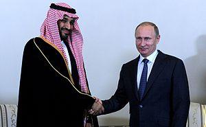 Mohammad bin Salman - Prince Mohammad with Russian President Vladimir Putin, 18 June 2015