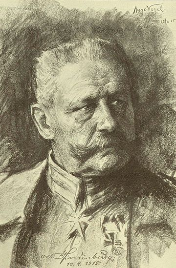 Hindenburg drawn by his friend Hugo Vogel Vogel drawing.jpg