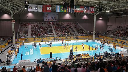 Volleyball at the exhibition centre during the 2015 Pan American Games.