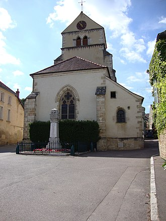 Volnay, Côte-d'Or - The church in Volnay