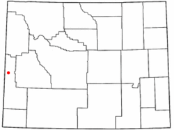 Location of Afton, Wyoming