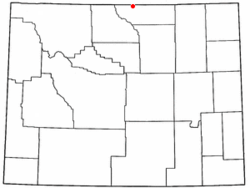 Location of Parkman, Wyoming