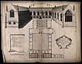Wadham College, Oxford; panoramic view with a keyed floor pl Wellcome V0014180.jpg