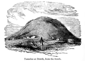 Sketch of Dowth around 1900