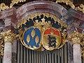 Waldburger Wappen Kisslegg Pfarrkirche Orgel.jpg