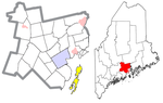 Waldo County Maine Incorporated Areas Islesboro Highlighted.png