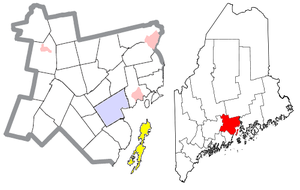 Islesboro, Maine - Image: Waldo County Maine Incorporated Areas Islesboro Highlighted