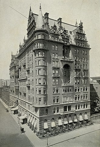 Empire State Building - The Waldorf Hotel (1893), which stood on the site of the Empire State Building until 1929