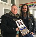 Walter Naegle & Bayard Rustin Center for Social Justice Chief Activist Robt Seda-Schreiber with Medal of Freedom.jpg