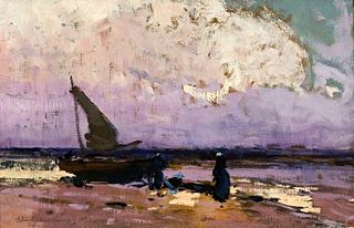 Sea and sailboat.