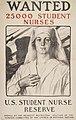 Wanted-25000 Student Nurses-U.S. Student Nurse Reserve (12237390594).jpg