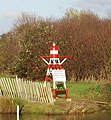 Warning Buoy on the riverbank, Grove Ferry - geograph.org.uk - 1619973.jpg