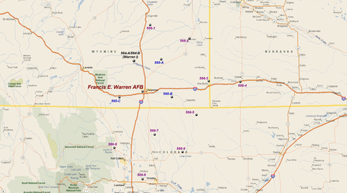 Warren AFB Atlas Missile Sites