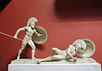 Warriors from East pediment of the temple of Aphaia (casting in Pushkin museum after Munich original) by shakko 02.JPG