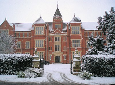 The frontage of Warwick School, one of the oldest independent schools in England Warwick School front.jpg