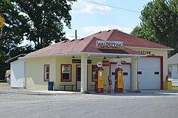 Former Shell station in Wawpecong