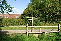 Waymarker and stile, Springfield Lane - geograph.org.uk - 1289376.jpg