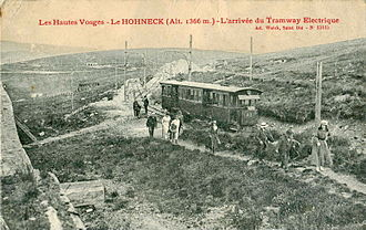 Hohneck (Vosges) - The Hohneck terminal of the Gérardmer tramway.