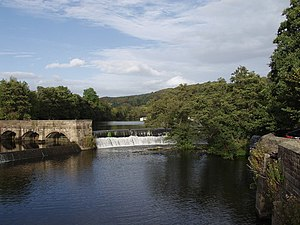 Grade II* listed buildings in Amber Valley - Image: Weir on River Derwent geograph.org.uk 351639