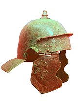 An Imperial Gallic helmet known as the Weissenau type in Germany.
