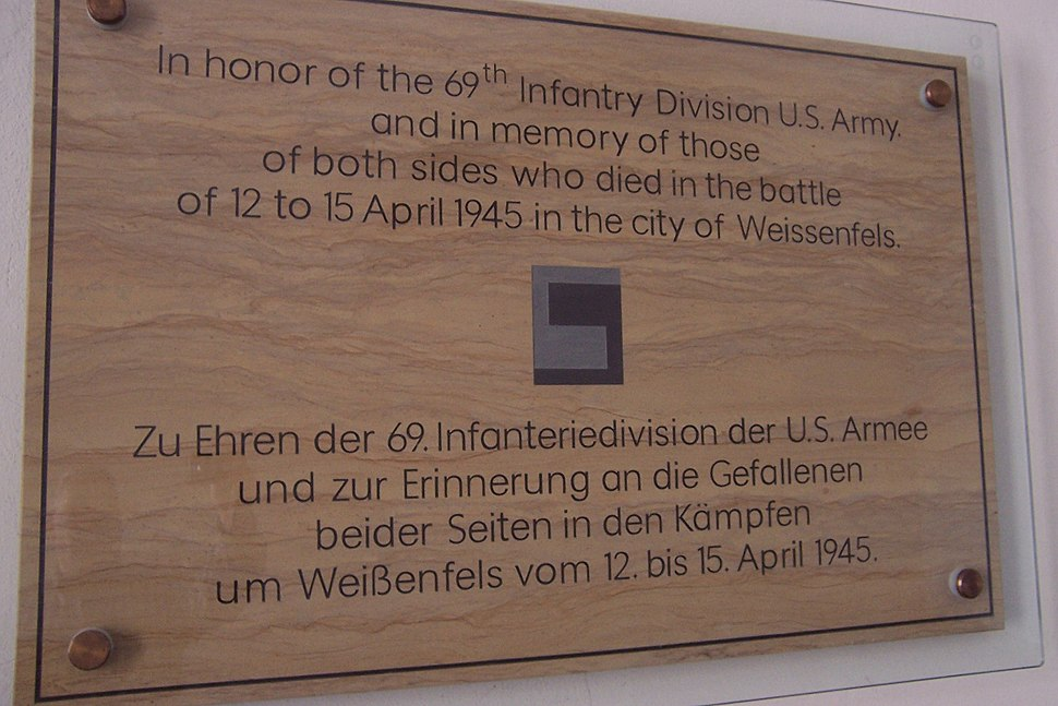Weissenfels 1945 sign