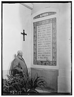 Welsh tablet of Lord's Prayer on Olivet showing Mr. Hughes LOC matpc.00640.jpg