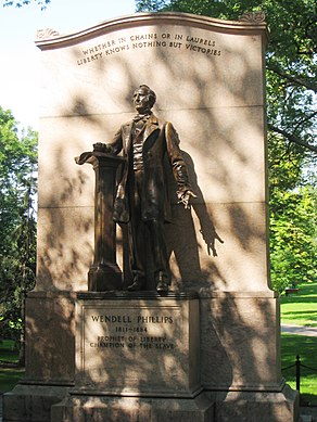 Wendell Phillips statue in Boston Public Garden - general view.JPG