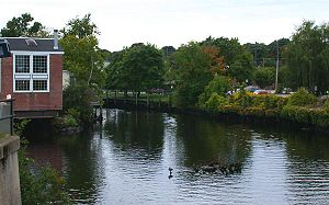 Pawcatuck River - The Pawcatuck River as it flows between Westerly, Rhode Island and Pawcatuck, Connecticut
